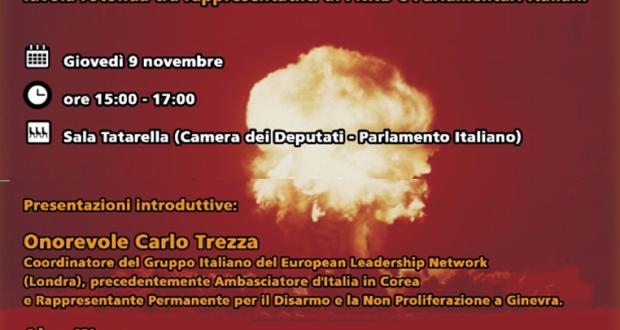 Disarmo nucleare domani se ne parla alla camera dei for Sito parlamento italiano